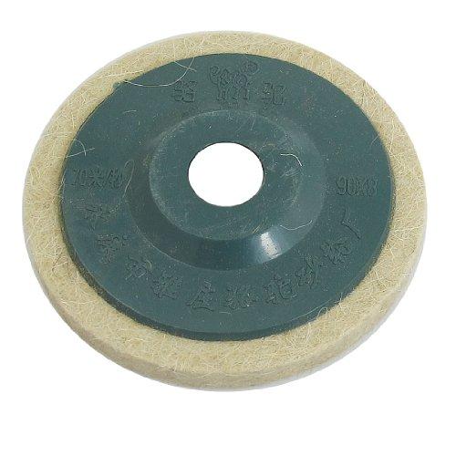 Amico 95mm Inner Diameter Fiber Polishing Wheel Abrasive Discs Beige Blue