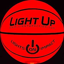 Light Up Action Light Up Basketball - LED LIT - Glow in the Dark - Official Size No7