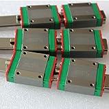 Linear Guideway Fit MGN15C Alloy Steel Rail Slide Unit Blocks
