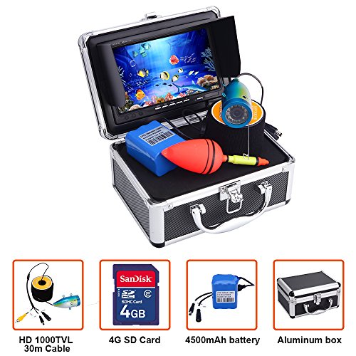 Portable Fish Finder Underwater Fishing Camera System Kit Video Recording Edition DVR 7