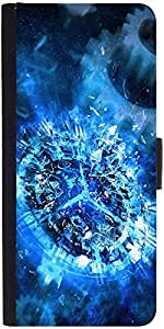 Snoogg Shattered Clock 2693 Designer Protective Phone Flip Case Cover For Htc Desire-626G