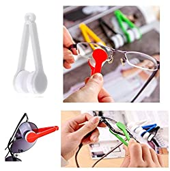 KARP Mini Microfiber Glasses Sun Glasses Eyeglasses Cleaner Cloth Cleaning Clip (White)