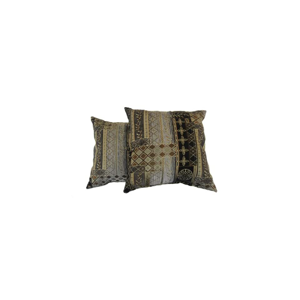 Newport Layton Home Fashions 2 Pack Amherst Pillow Black On Popscreen