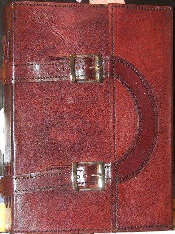 Handmade Leather Dual Strap & Buckle Journal 10 X 7