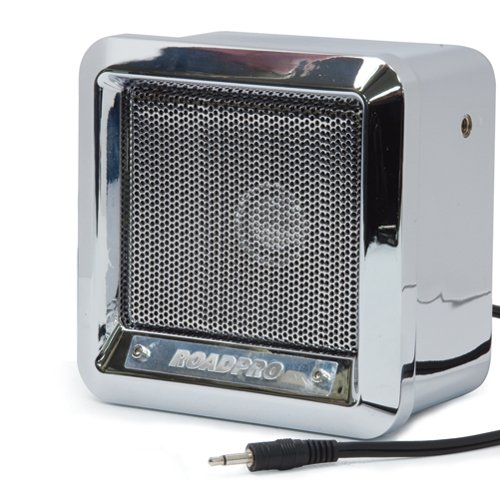 RoadPro RPPS600CHR Chrome Finish 5″ Professional Heavy Duty CB Extension Speaker