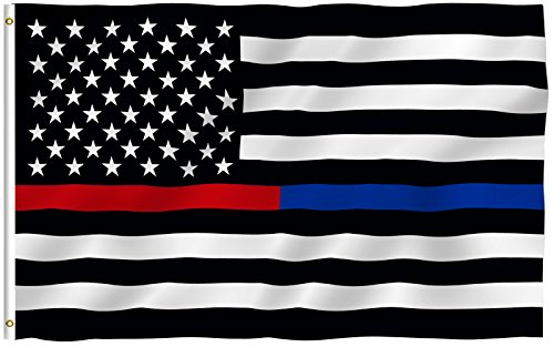 3x5-Foot-Thin-Blue-Line-USA-Polyester-Flag-Vivid-Color-and-UV-Fade-Resistant-Canvas-Header-and-4-Rows-Stitched-Thin-Blue-Line-American-Polyester-Flags-with-Brass-Grommets