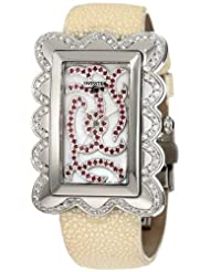 "Discounted Swisstek SK47727L Limited Edition Swiss Diamond Watch With Red Rubies, Mother-Of-Pearl Dial, Genuine Stingray ""Galuchat"" Strap And Sapphire Crystal"