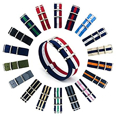 CIVO Watch Bands NATO Premium Ballistic Nylon Watch Strap Stainless Steel Buckle 18mm 20mm 22mm