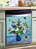 Collections Etc Butterflies & Flowers Dishwasher Cover