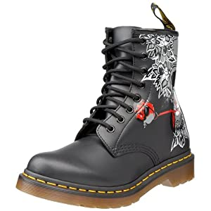 Dr. Martens Women's Rose Skull Boot