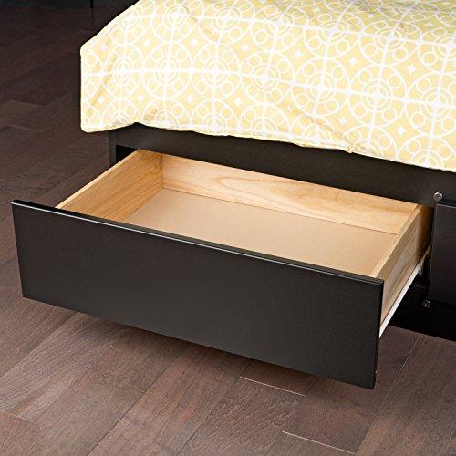 Black Queen Mate 39 S Platform Storage Bed With 6 Drawers Ebay