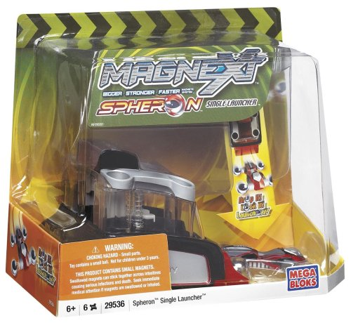 Mega Bloks Magnext Spheron single Launcher Red