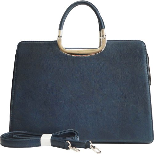 Exquisite Womens Designer Briefcase Laptop/Tablet/Ipad Bag (Navy Blue)