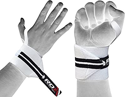 RDX Gym Weight Lifting Wrist Wraps Power Training Exercise Straps Bodybuilding Crossfit Workout from RDX