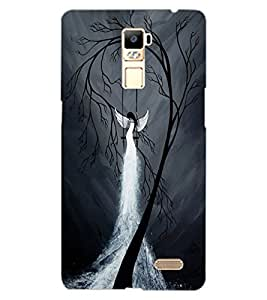 ColourCraft The Dark Angel Design Back Case Cover for OPPO R7