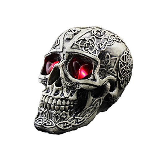 "Halloween Decorations Resin Concavo-Convex Skull 6""X 3.5""X 4.9"" front-848217"