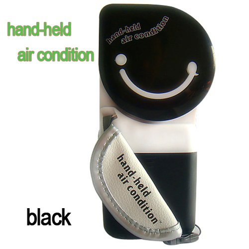 Black New USB Mini Portable Hand Held Air Conditioner Cooler Cooling Fan for Laptop PC
