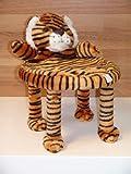 Plüsch Kinder Spielzeug Deko Hocker Stuhl Kunststoff Plüschbezug Tiermotive TIGER