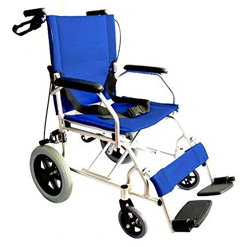 Leggero pieghevole sedia a rotelle transito compatta viaggi carrozzina Meno di 10 kg - EC1863