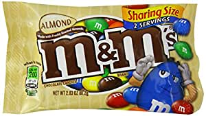 M&M's Chocolate Candy, Almond, 80 g (Pack of 18)