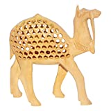 R S Jewels Wooden Home Decor Hand Carved Camel Animal