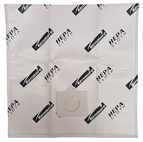 Kenmore HEPA Type Q Cloth Canister Vacuum Bags Fits type Q - (3 Bags) By Vacow ClearFlow TM (29319 Kenmore compare prices)
