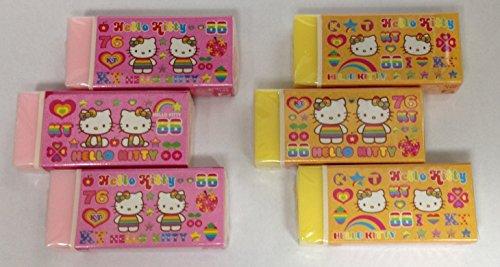 Hello Kitty Eraser 6pcs Set [Japan Import]
