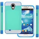 TPU Silikon Strass Glitzer Hülle Hüllen Schutzhülle Tasche Etui Protection Case Protective Cover für Samsung Galaxy S4 IV I9500 I9505 Hellblau+Blau+Weiß