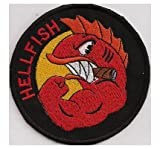 Simpsons The Curse Of The Flying HELLFISH WW2 Comic Iron on Patch Badge Insignia