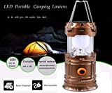 Iuhan® Rechargeable Solar Panel Camping Lantern LED Outdoor Tent Hanging Lights Lamp