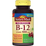 Nature Made Vitamin B-12, Sublingual, 1000 mcg, Micro-Lozenges, Cherry Flavor, 50 lozenges