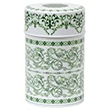 Green Filigree Canister