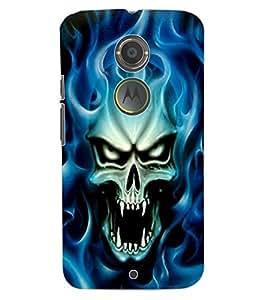 ColourCraft Skull Design Back Case Cover for MOTOROLA MOTO X2