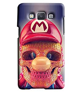 Blue Throat Skeleton Face With Red Hat Printed Designer Back Cover/Case For Samsung Galaxy A5