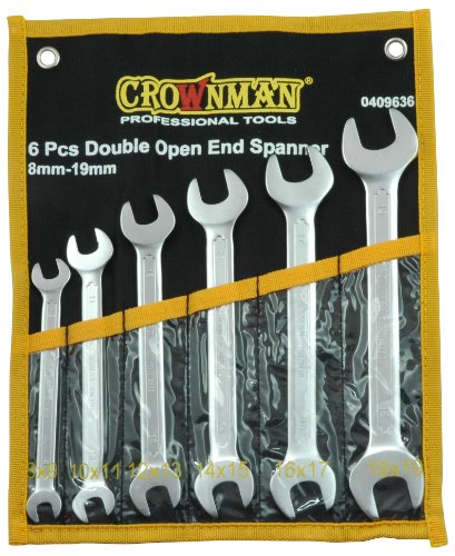 Open-End Wrench Set 6-Piece With Case 8 Mm - 19 Mm