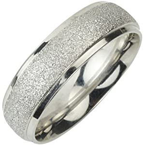 Stainless Steel Sparkle 5.8mm Band Ring (Size 7)