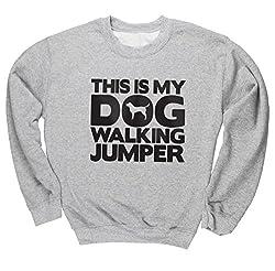 HippoWarehouse This Is My Dog Walking Jumper unisex jumper sweatshirt pullover