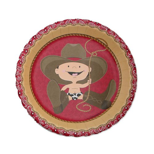 Little Cowboy - Birthday Party Dessert Plates - 8 Ct front-701348