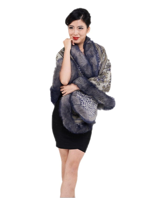 YRLOVE Mode Damen Echter Hand Wolle Stahl Kap Poncho Mantel & Fuchs Pelz Halsband günstig bestellen