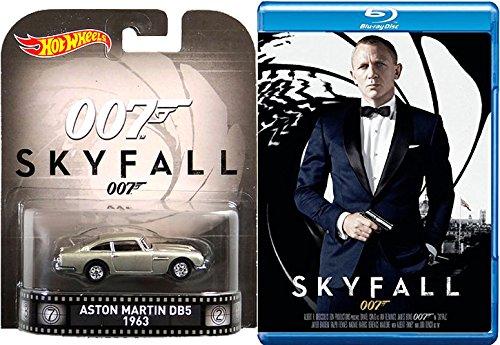 Skyfall James Bond Blu Ray & Aston Martin 1963 DB5 Pack 007 Daniel Craig Special Edition Cover Widescreen Movie Car Gadget Set (Aston Martin Db5 Model compare prices)