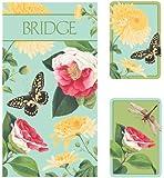 Entertaining with Caspari Bridge Gift Set with Jumbo Typeface, Winterthur Florals