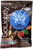 GoLightly Sugar Free Just Chocolates, 2.75-Ounce Bags (Pack of 12)
