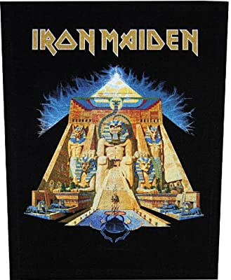 XLG Iron Maiden Powerslave Rock Music Band Woven Applique Patch