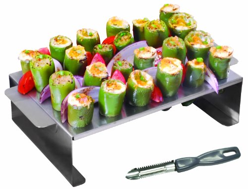 Purchase GrillPro 41555 Stainless Steel Pepper roasting Rack for Grill
