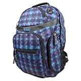 TLC S Print Blue Backpack Bag For School College And Travel