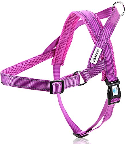 DEXDOG EZHarness No Pull Reflective Mesh Adjustable Dog Harness, XX-Small, Purple (Hemp Dog Harness compare prices)