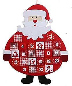 Hanging felt santa father christmas advent calendar amazon co uk