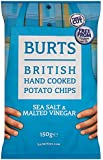 Burts Potato Chips Salt and Vinegar 150 g (Pack of 10)
