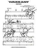 """Warrant - """"Heaven"""" - Authentic Autographed Sheet Music - 1980s Rock Legends"""