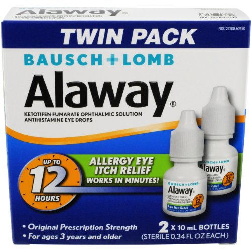 Alaway Antihistamine Eye Drops, 0.34 Ounces, 2 Count